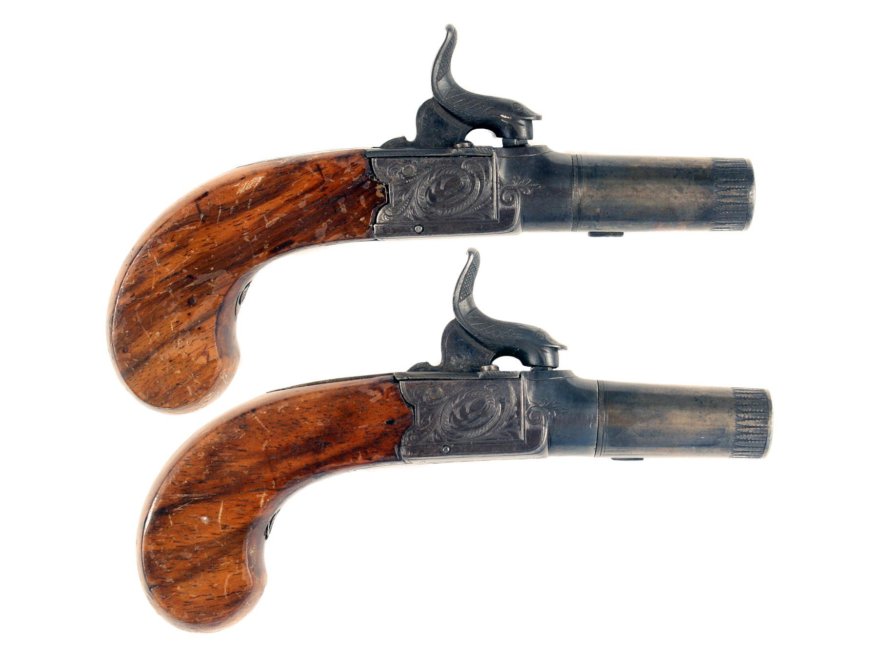 A Pair of Pocket Pistols by Westley Richards