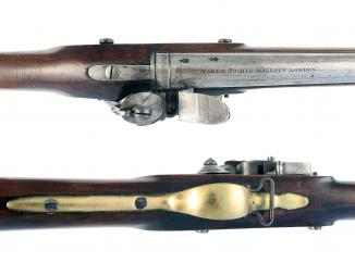 A Flintlock Fusil by W. Parker