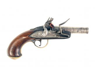An Early Flintlock Pocket Pistol