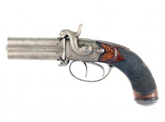 A Scarce 4-Barrel Pistol by Lang