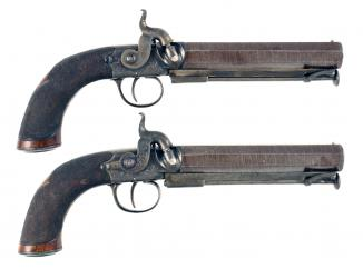 An Exceptional Cased Pair of Belt Pistols