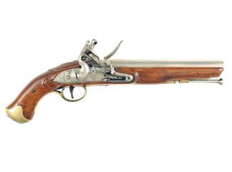 A Very Crisp Flintlock Light Dragoon Pistol