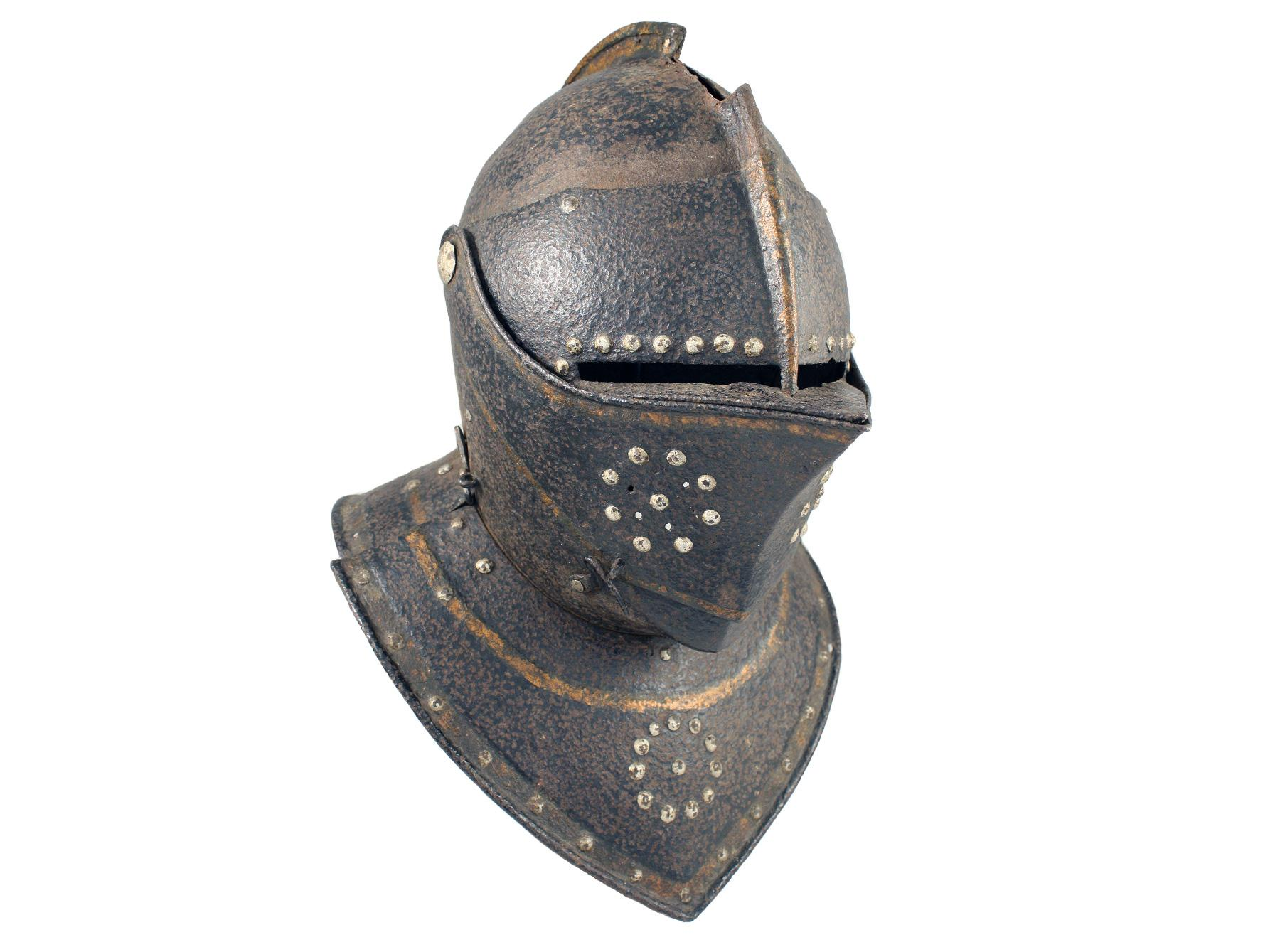 A Cuirassier Close Helm, 17th Century.