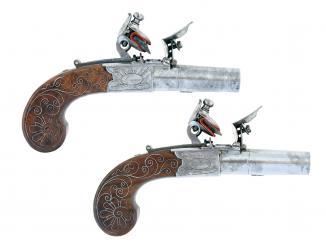 A Cased Pair of Flintlock Pocket Pistols