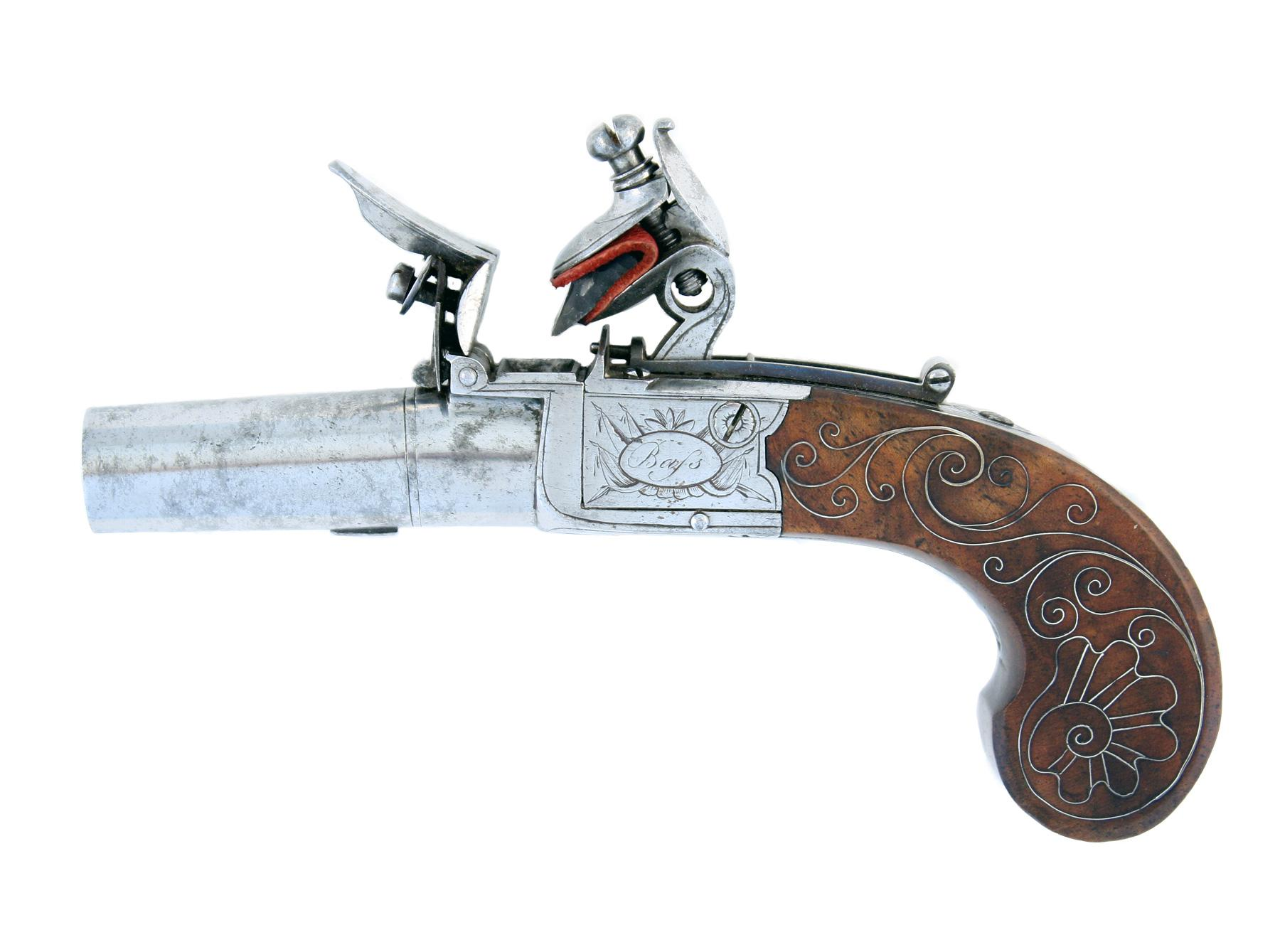 A Cased Pair of Flintlock Pocket Pistols