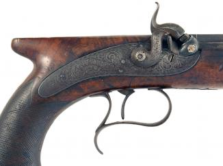 A Percussion Duelling pistol by Rigby