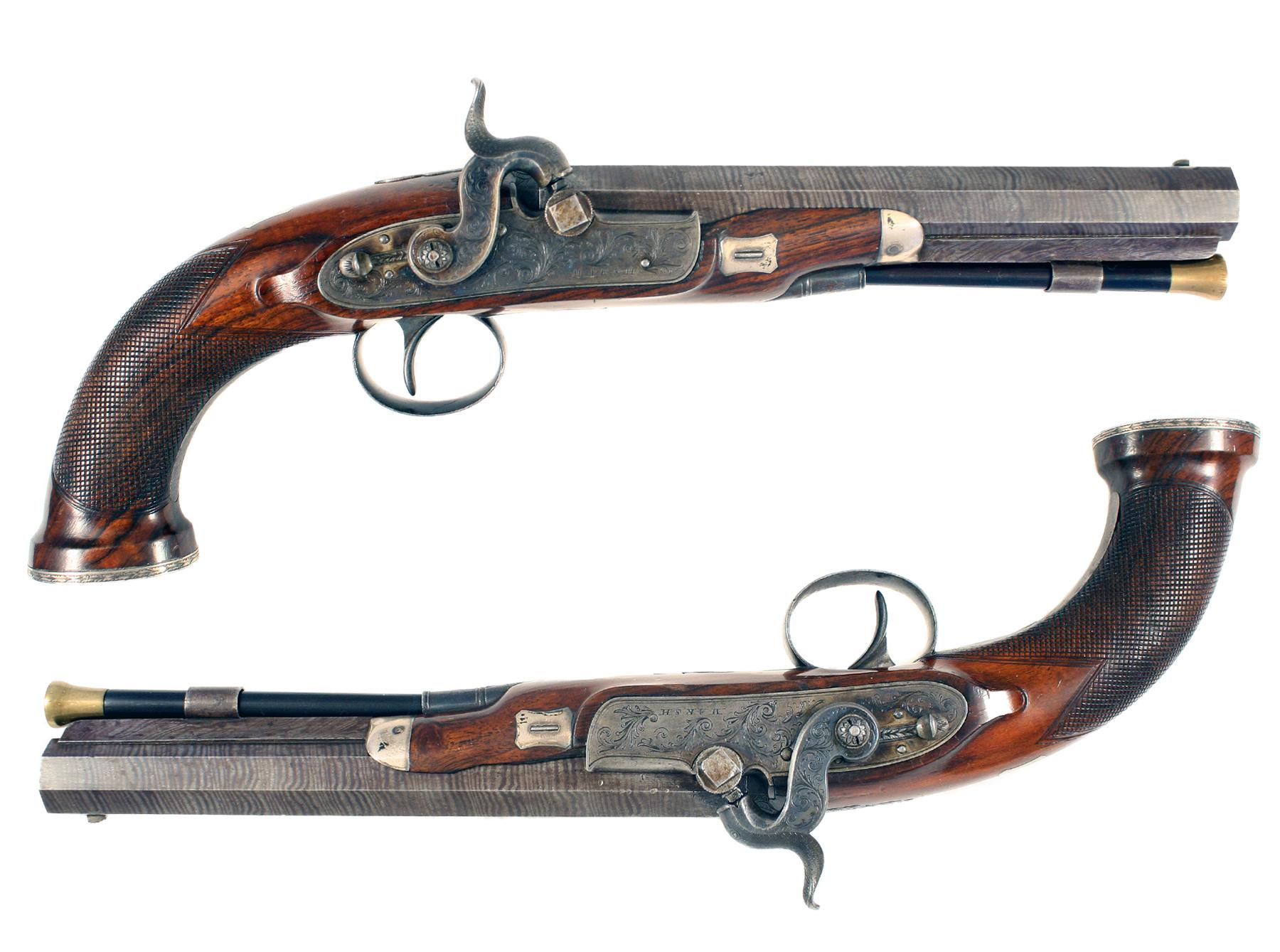 A Pair of Percussion Pistols
