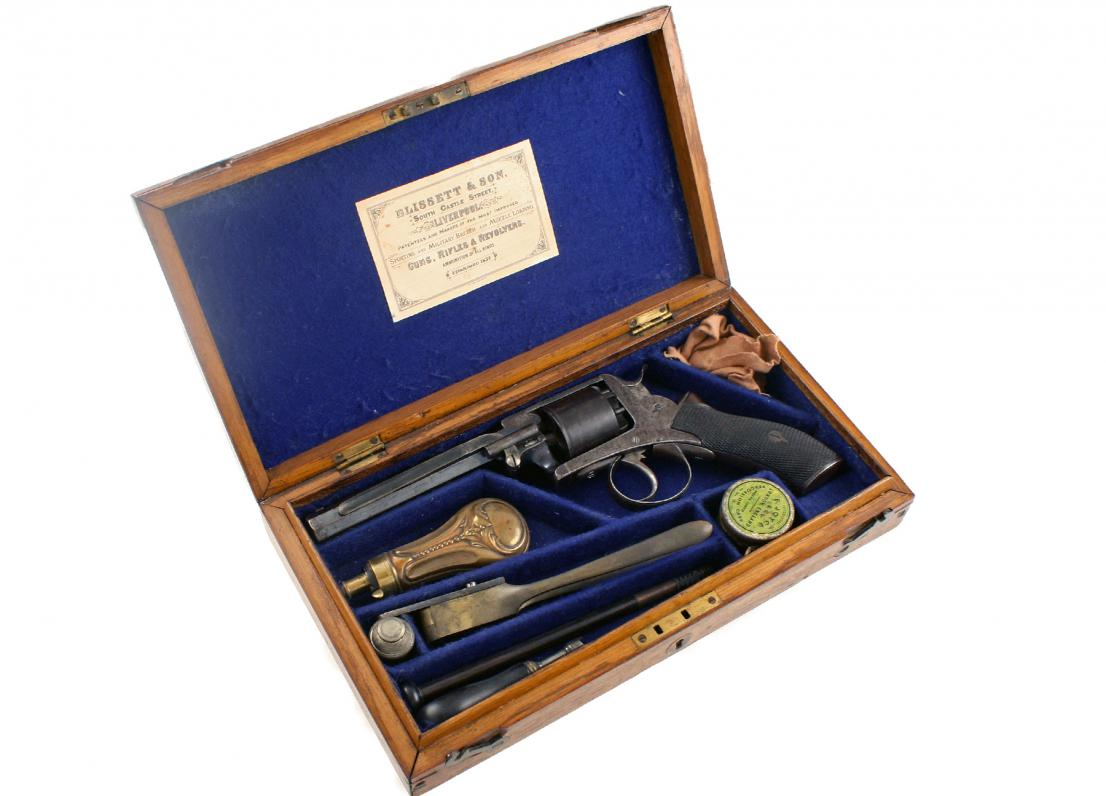 A Cased Percussion Revolver, Blissett & Son