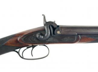 A Double Barrel Sporting Gun by G. Gibbs of Bristol