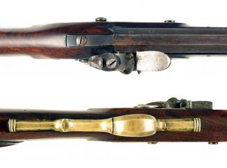 A Flintlock Rifle by Lacy & Co. London