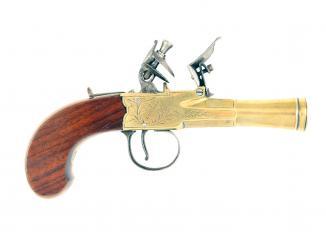 A Crisp Pair of Flintlock Blunderbuss Pistols