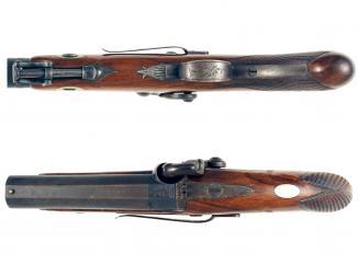 A 28-Bore Back-Action Pistol by E. London