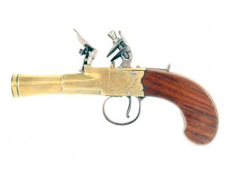 A Crisp Pair of Flintlock Blunderbuss Pistols