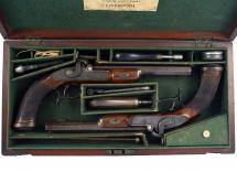 An Untouched Cased Pair of Duelling Pistols