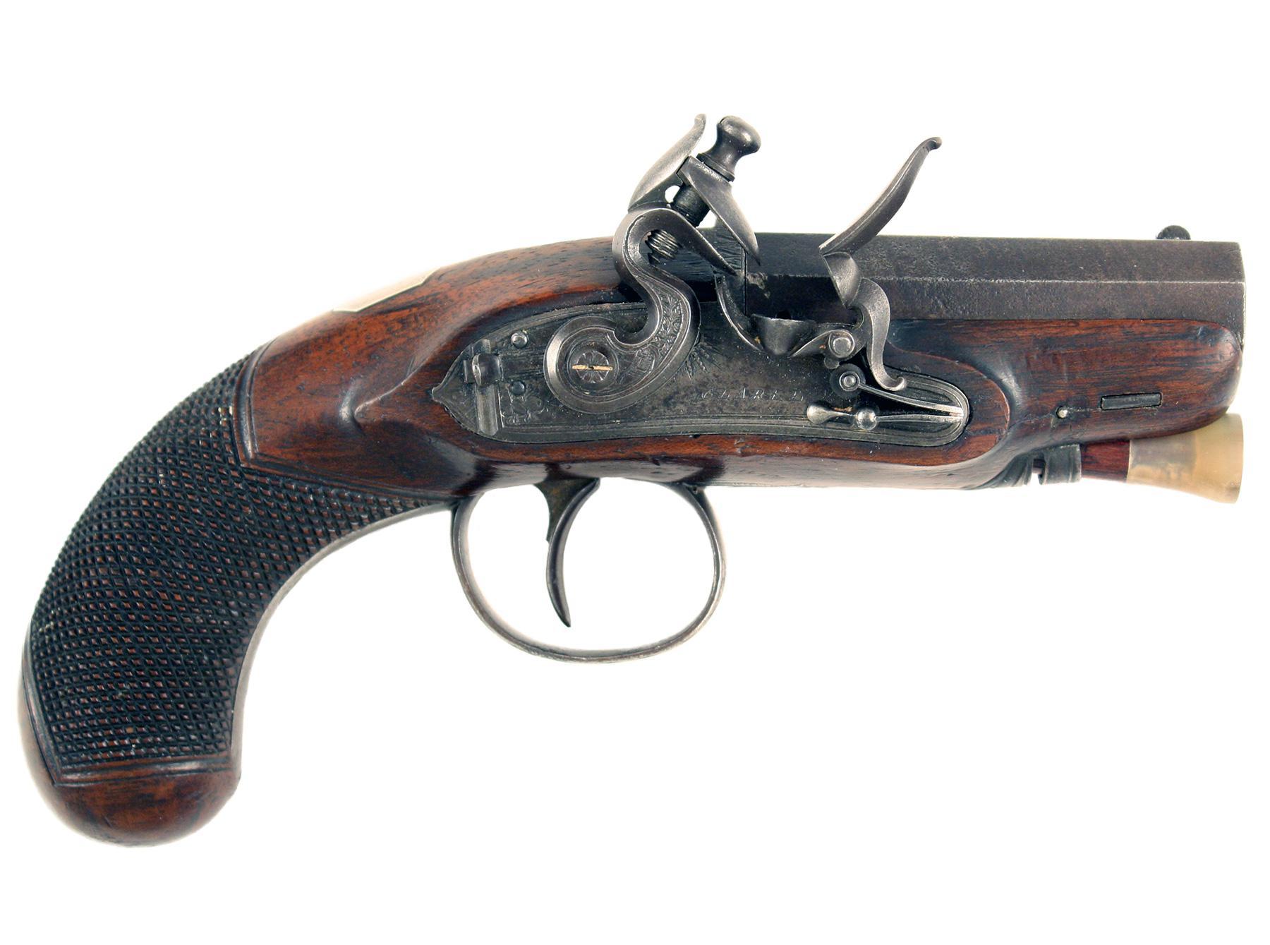 A Diminutive Pair of Flintlock Pistols by Clarke