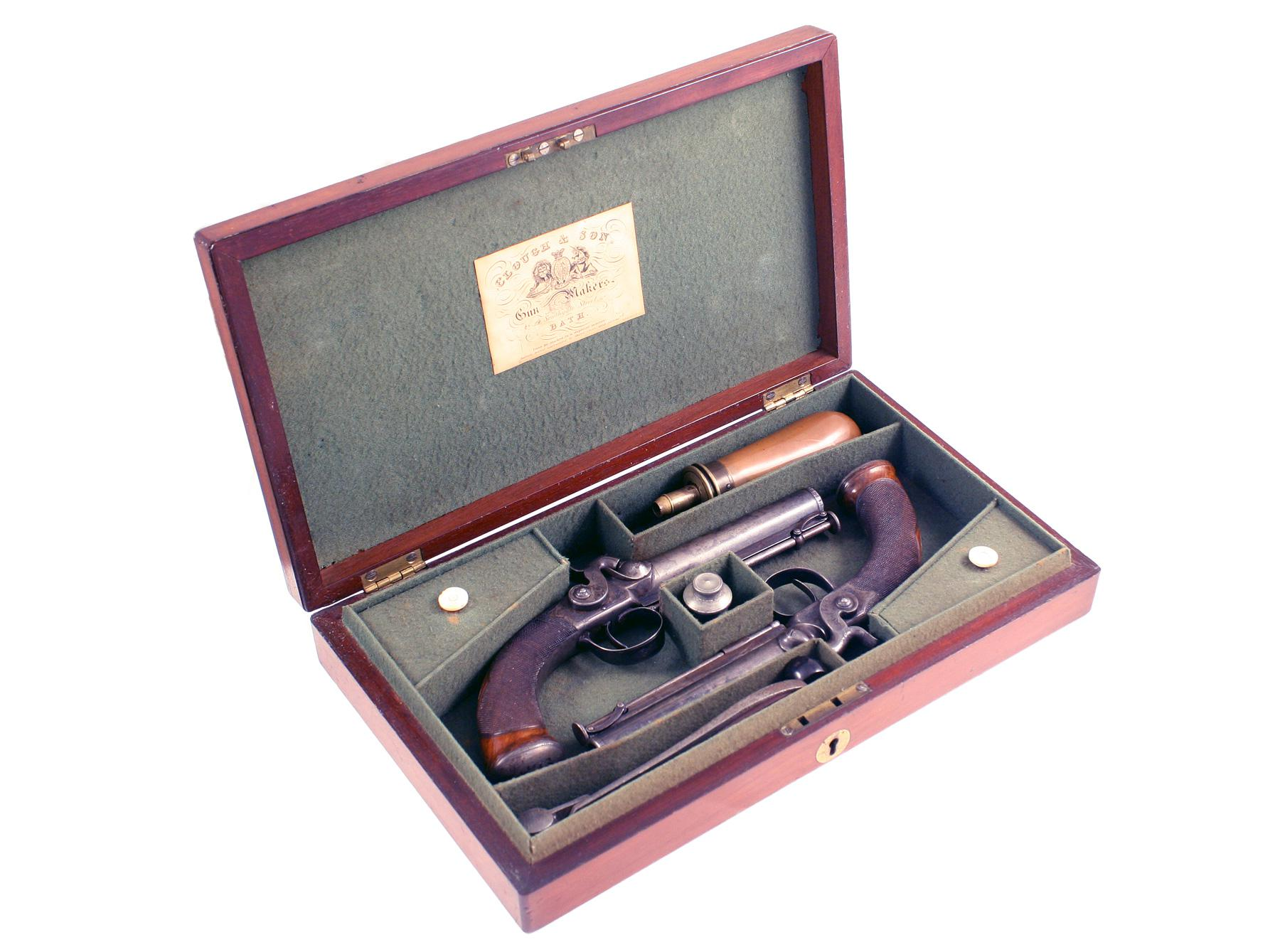 A Crisp Cased Pair of Pocket Pistols