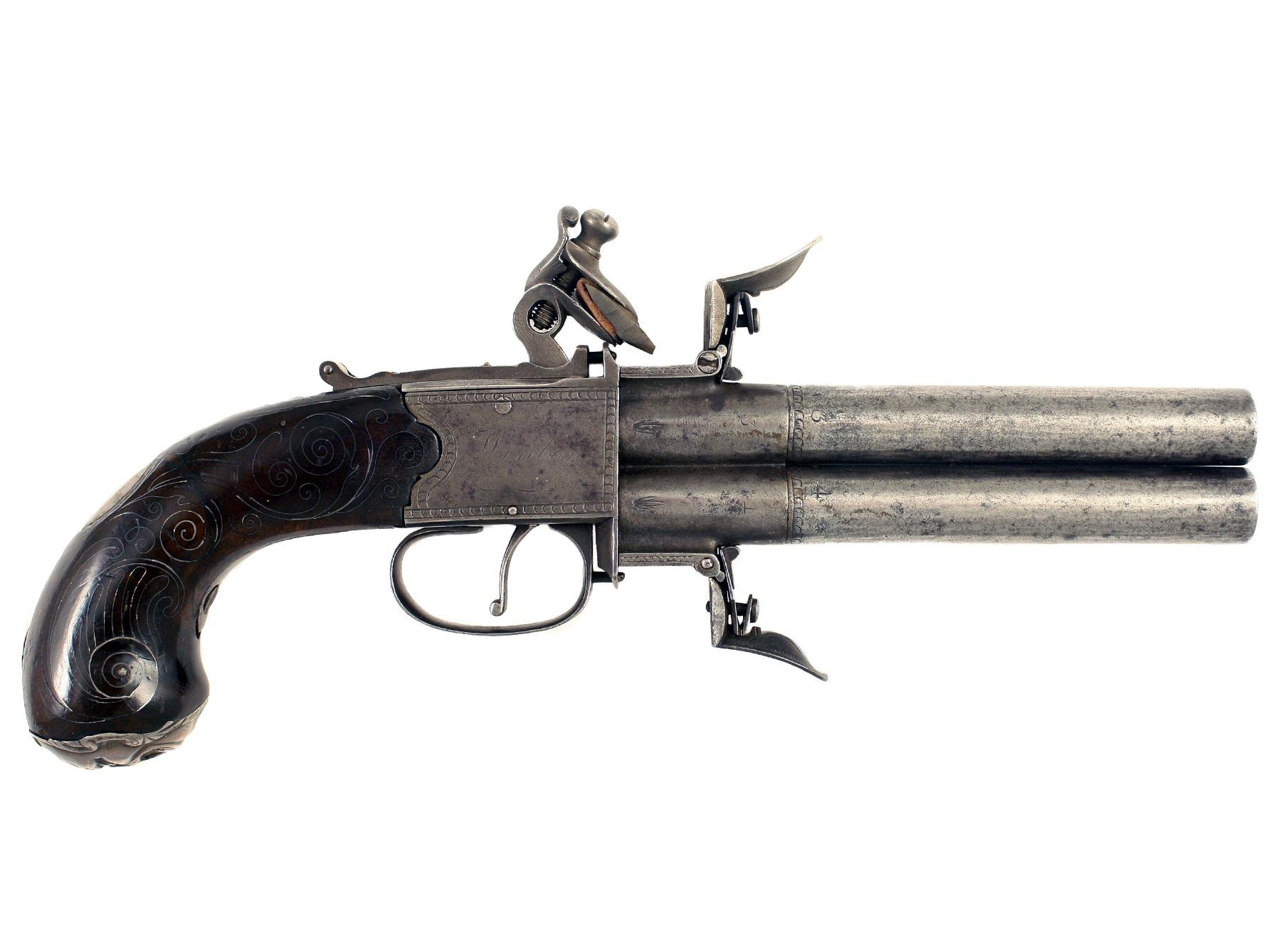 A Scarce Turn-Over Flintlock Pistol