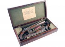 A Cased Pair of Percussion Pistols by Joseph Manton