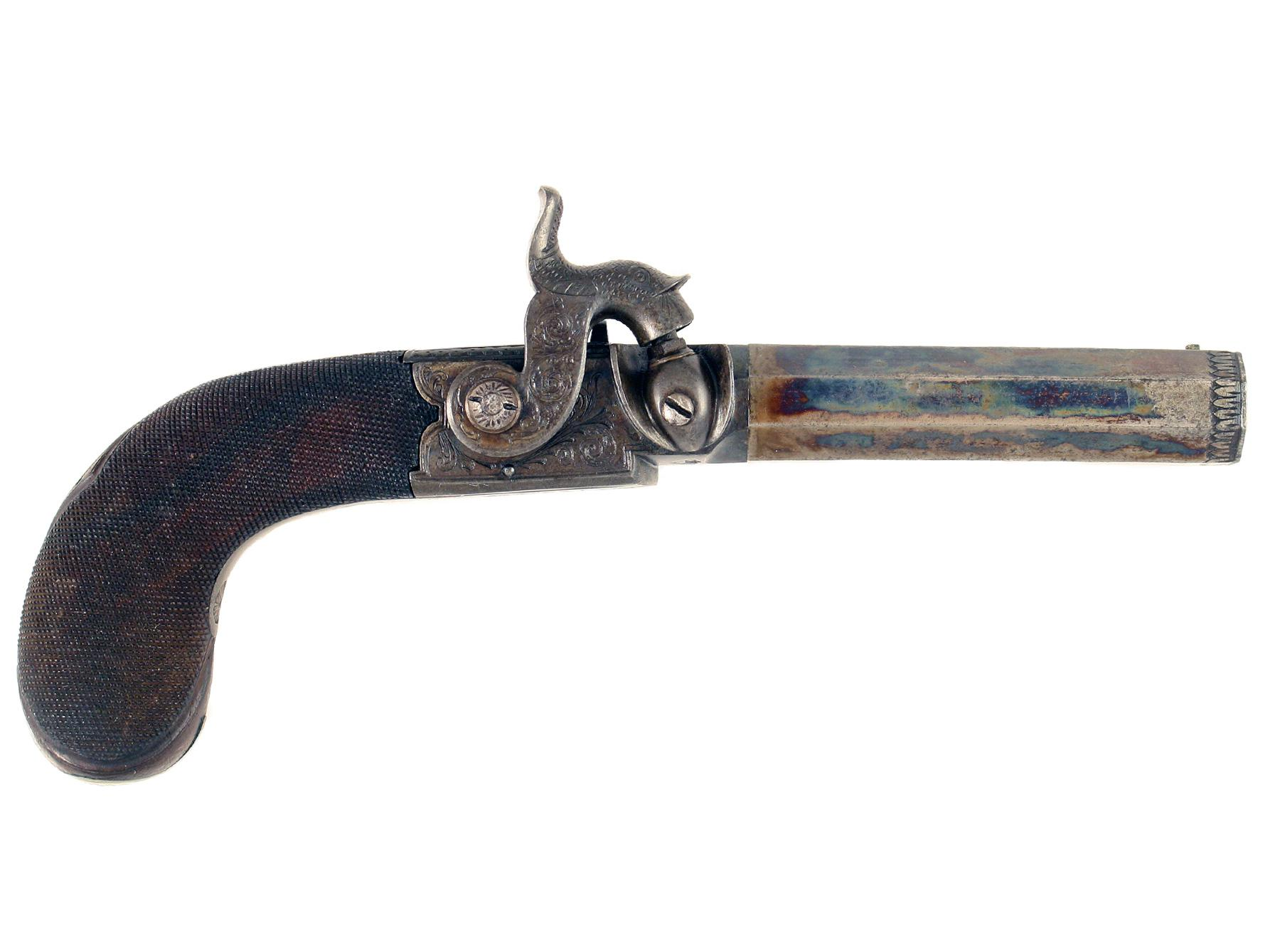 A Pair of Percussion Pistols by Childs, London
