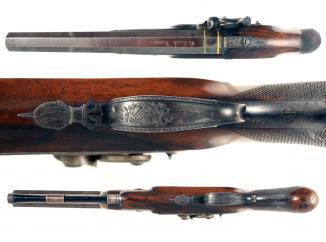 A Percussion Duelling Pistol by Beckwith