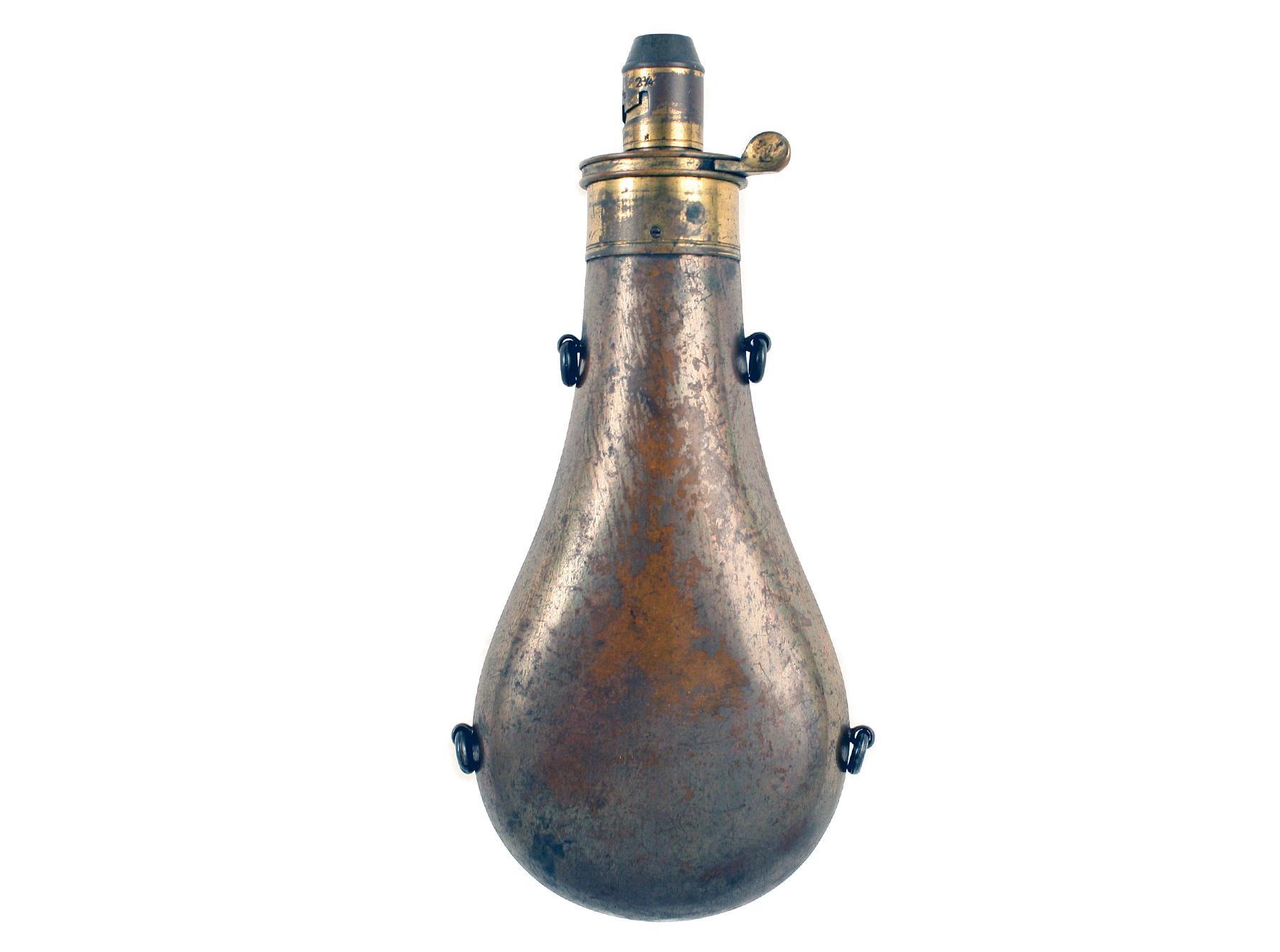 A Plain Powder Flask by Hawksley