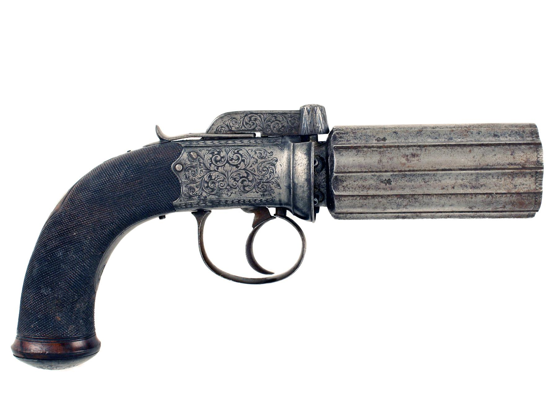 A Percussion Pepperbox by Berry of Woodbridge