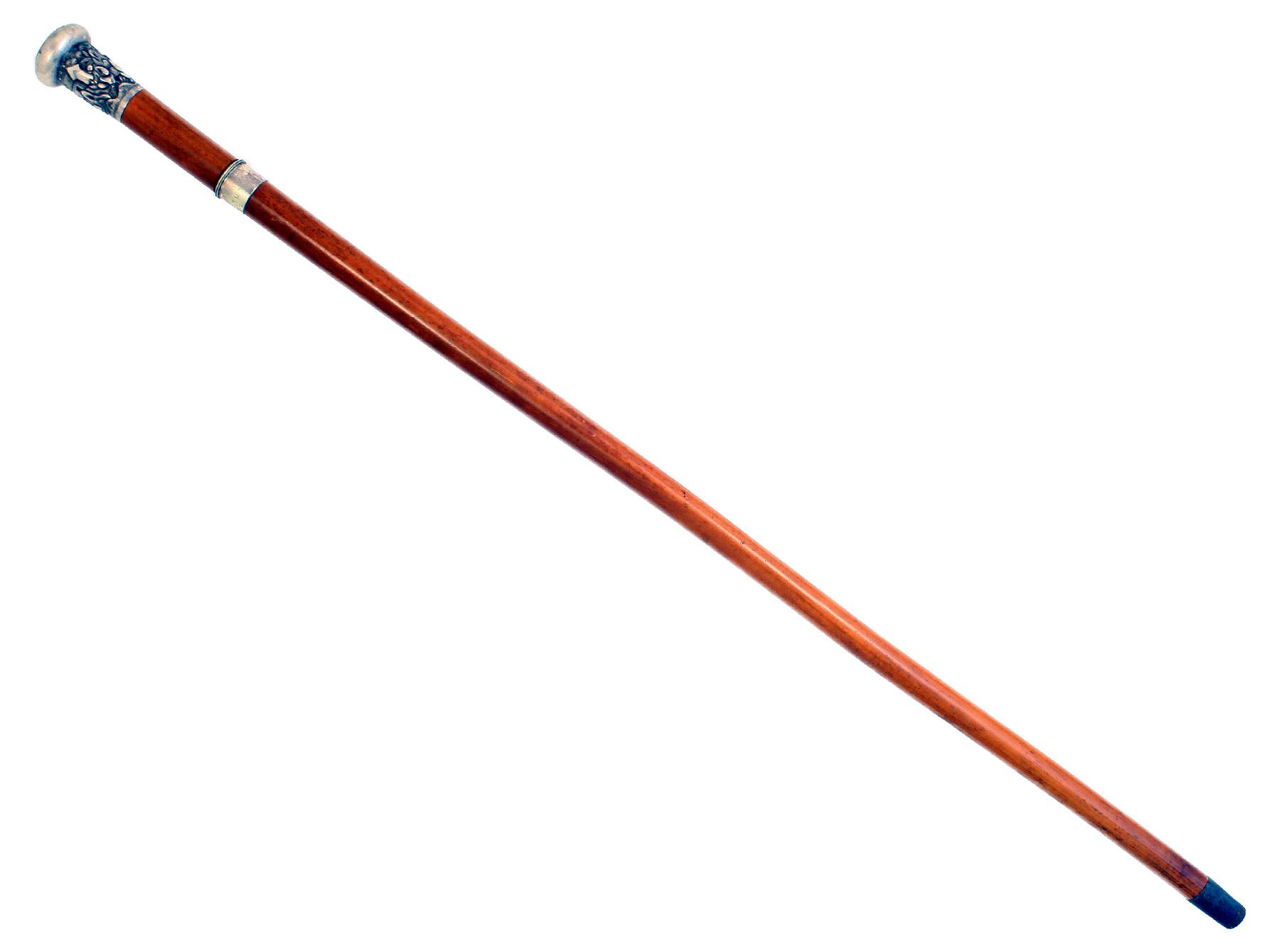 A Silver Mounted Sword Stick