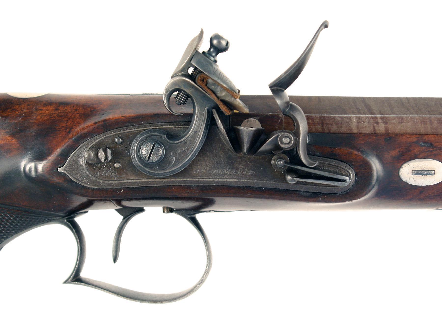 A Flintlock Duelling Pistol by Jones & Co.