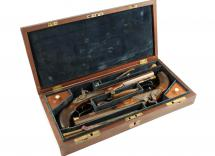 A Cased Pair of Percussion Pistols by Bond of London