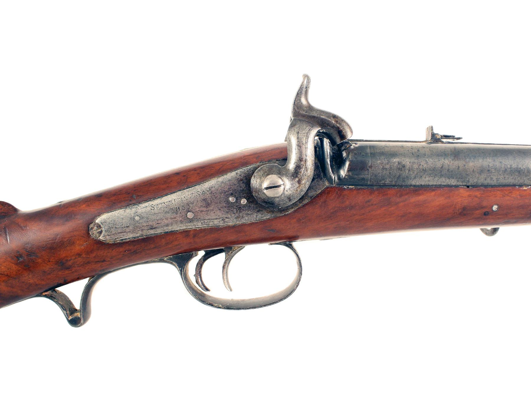 A Swinburne Double Barrel Carbine