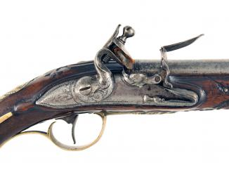 An Ornate French Flintlock Holster Pistol