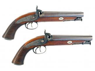 A Superb Pair of Howdah Pistols