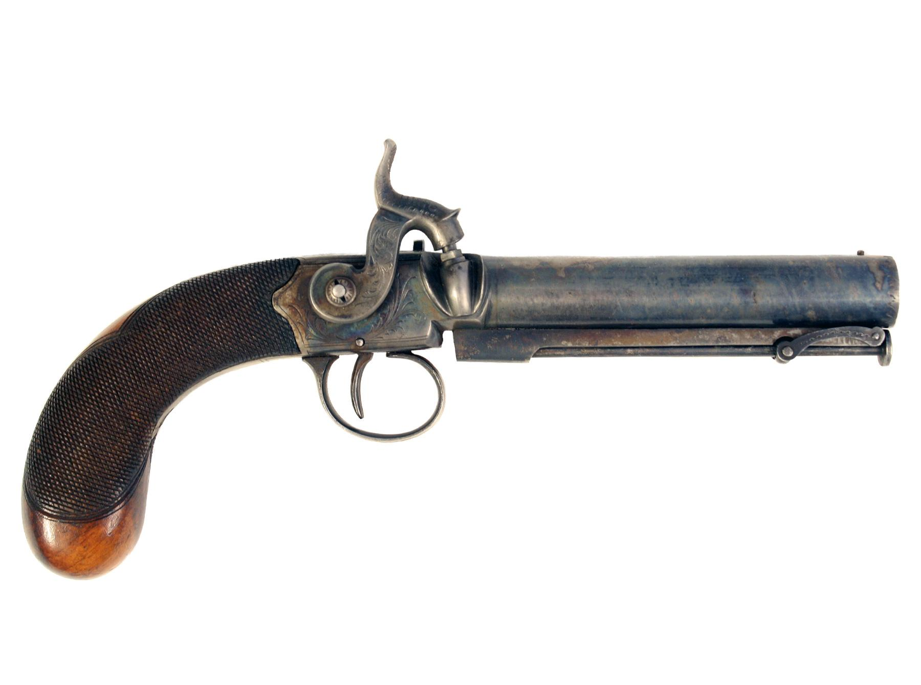 A Percussion Overcoat Pistol by Egg