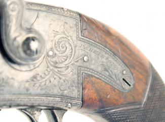 An Incredibly Scarce Irish Over & Under Pistol