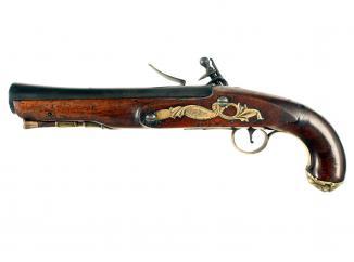 An Early Flintlock Blunderbuss Pistol