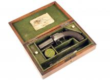 A Cased Pepperbox Revolver.