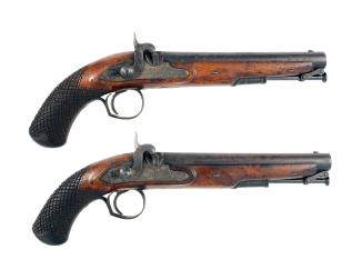 A Pair of Percussion Officers Pistols by Prosser