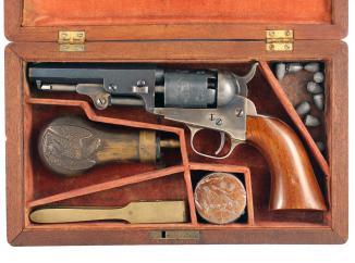 "A Cased 4"" Colt Pocket Revolver, No: 100768"