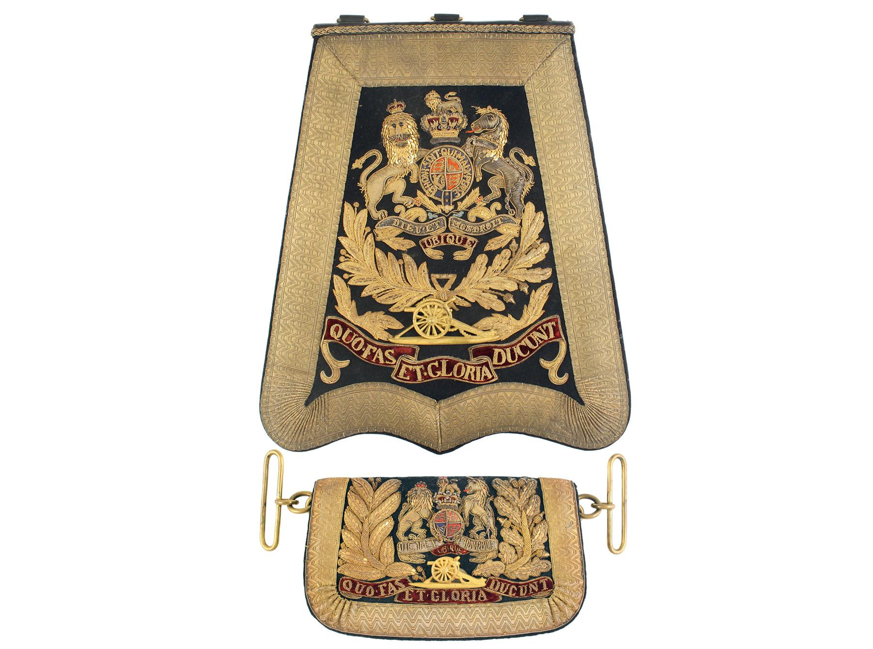 A Royal Artillery Sabretache and Pouch