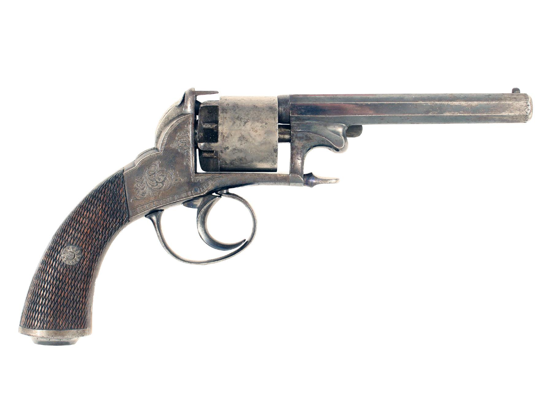 A Percussion Revolver by J. Lees & Son