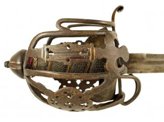 A Basket Hilted Sword.