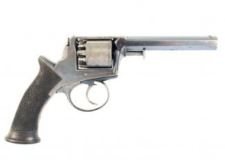 A Cased Adams Revolver with Spare Cylinder