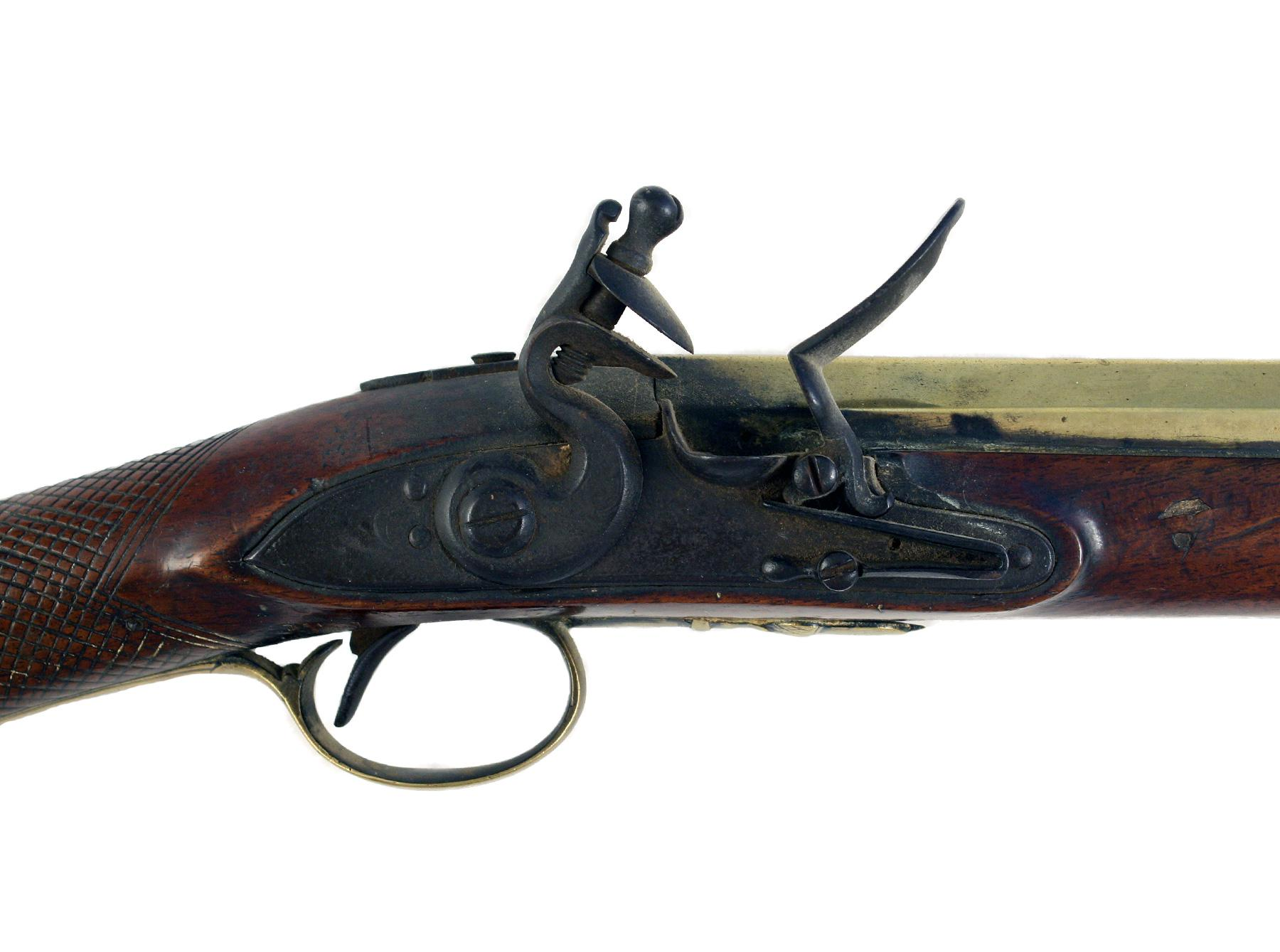 A Brass Barrelled Flintlock Blunderbuss