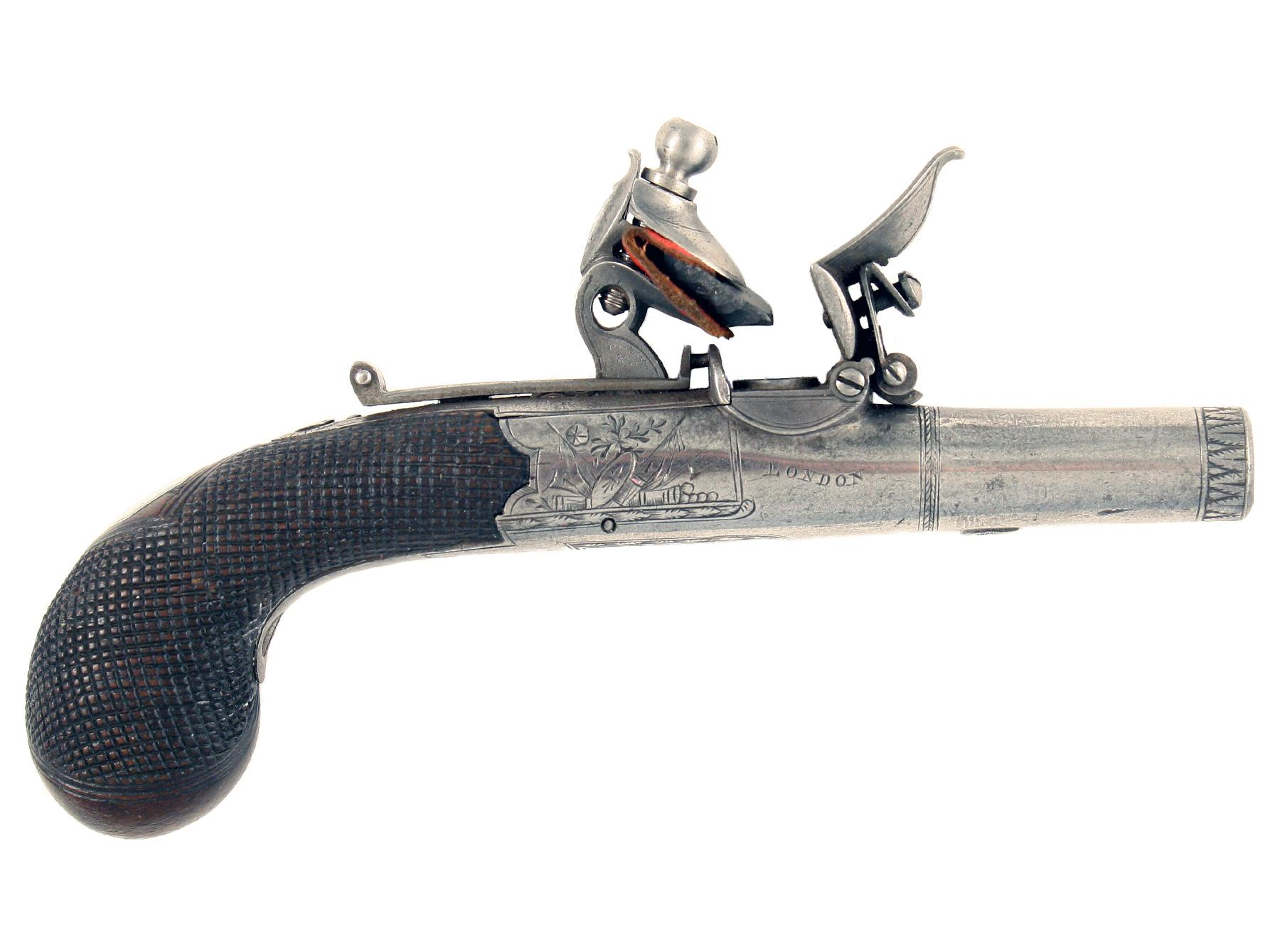 A Cased Pair of Pocket Pistols by H. Nock