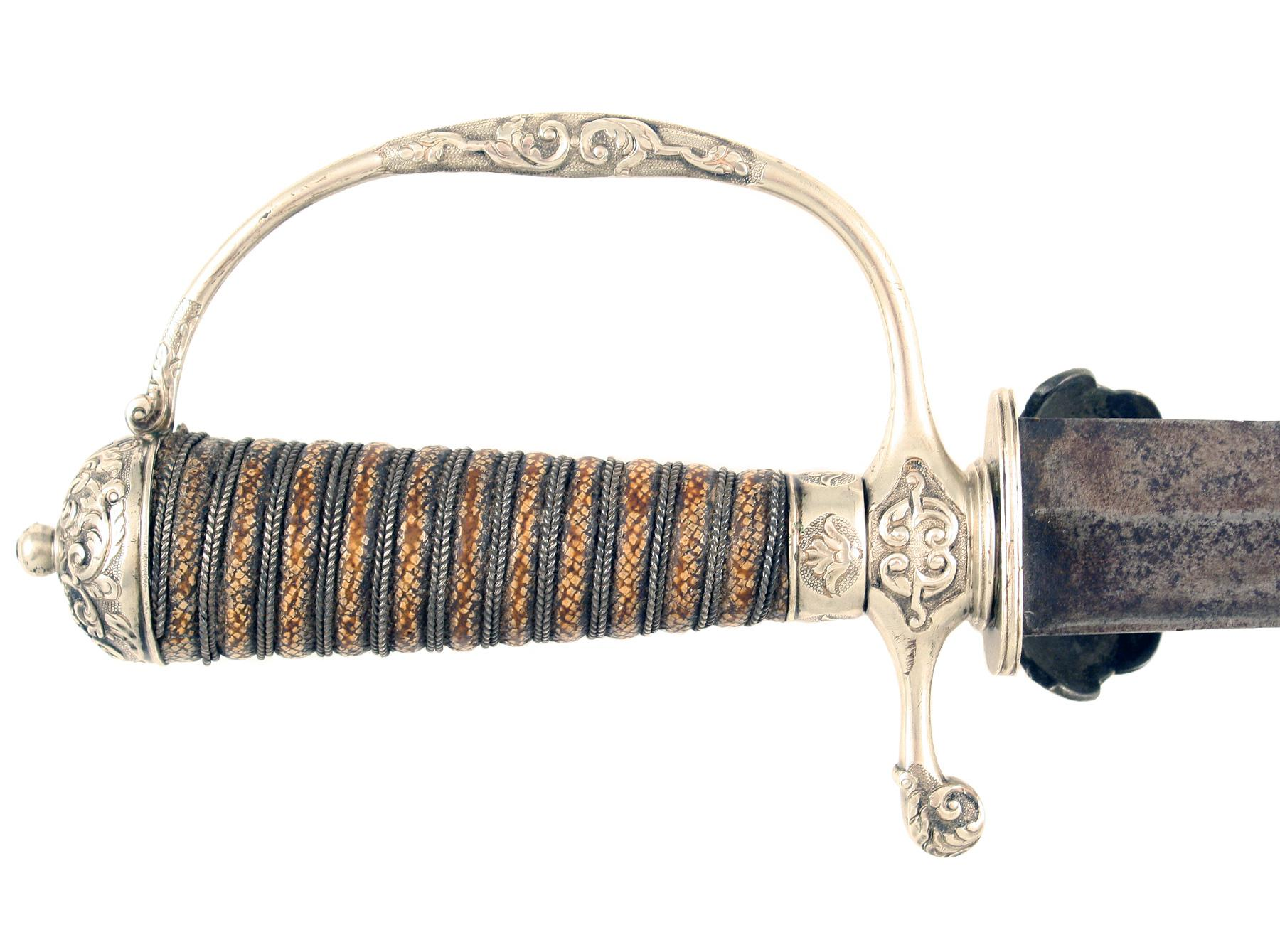 A Silver Hilted Hunting Hanger