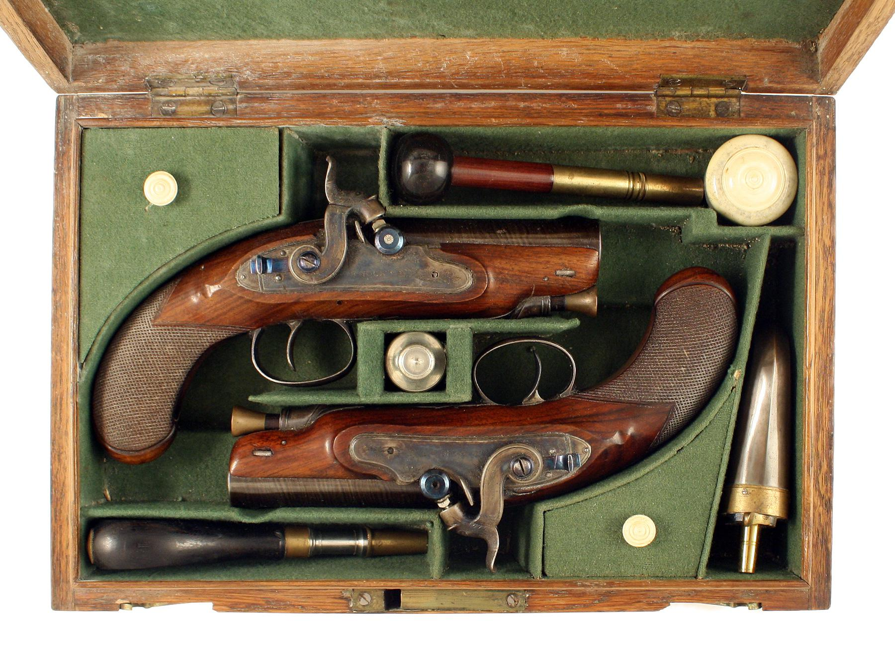 A Superb Pair of Percussion Pistols by Nock