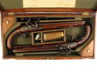 A Superb Pair of Cased Duelling Pistols