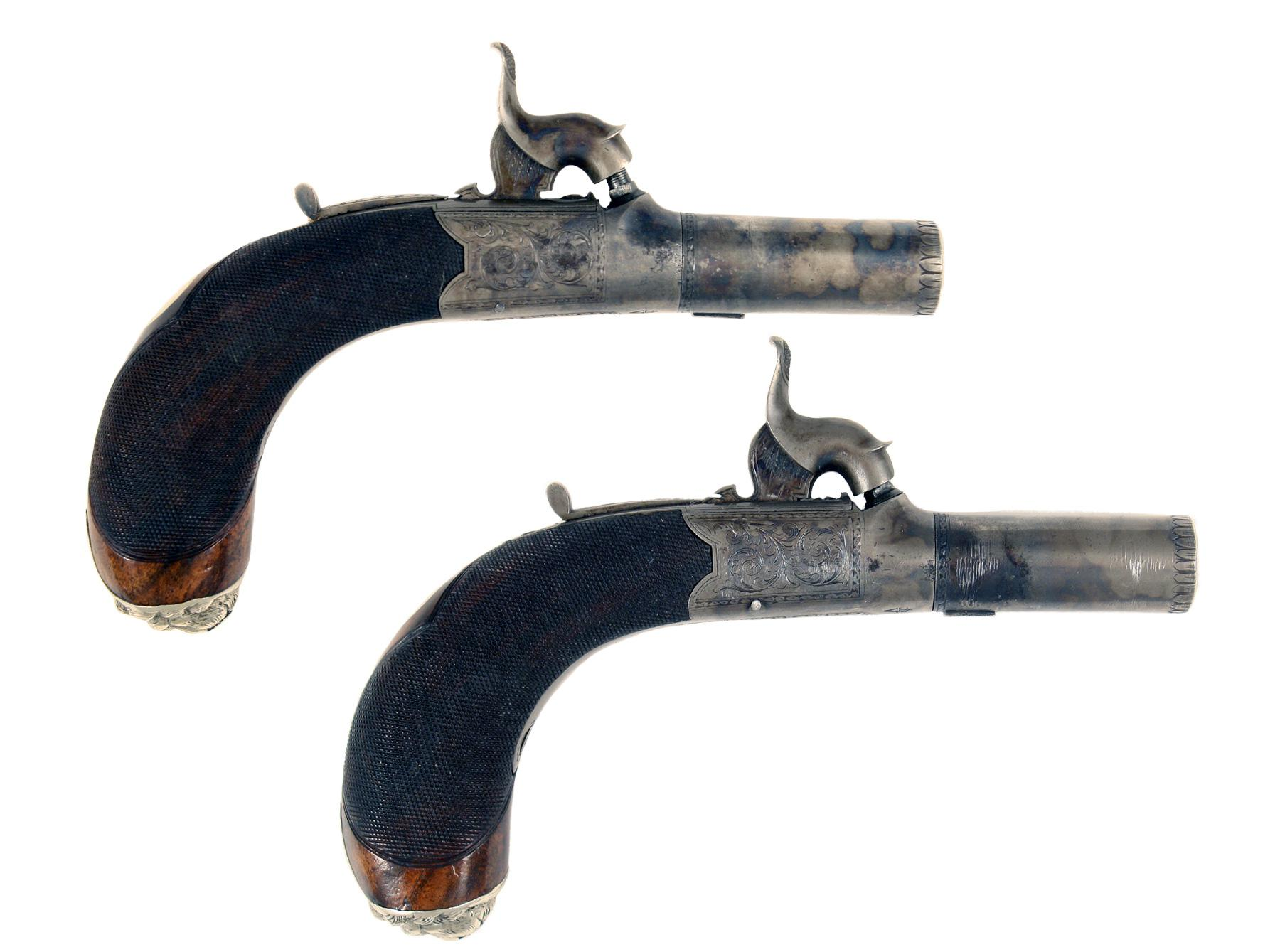 A Superb Cased Pair of Percussion Pocket Pistols