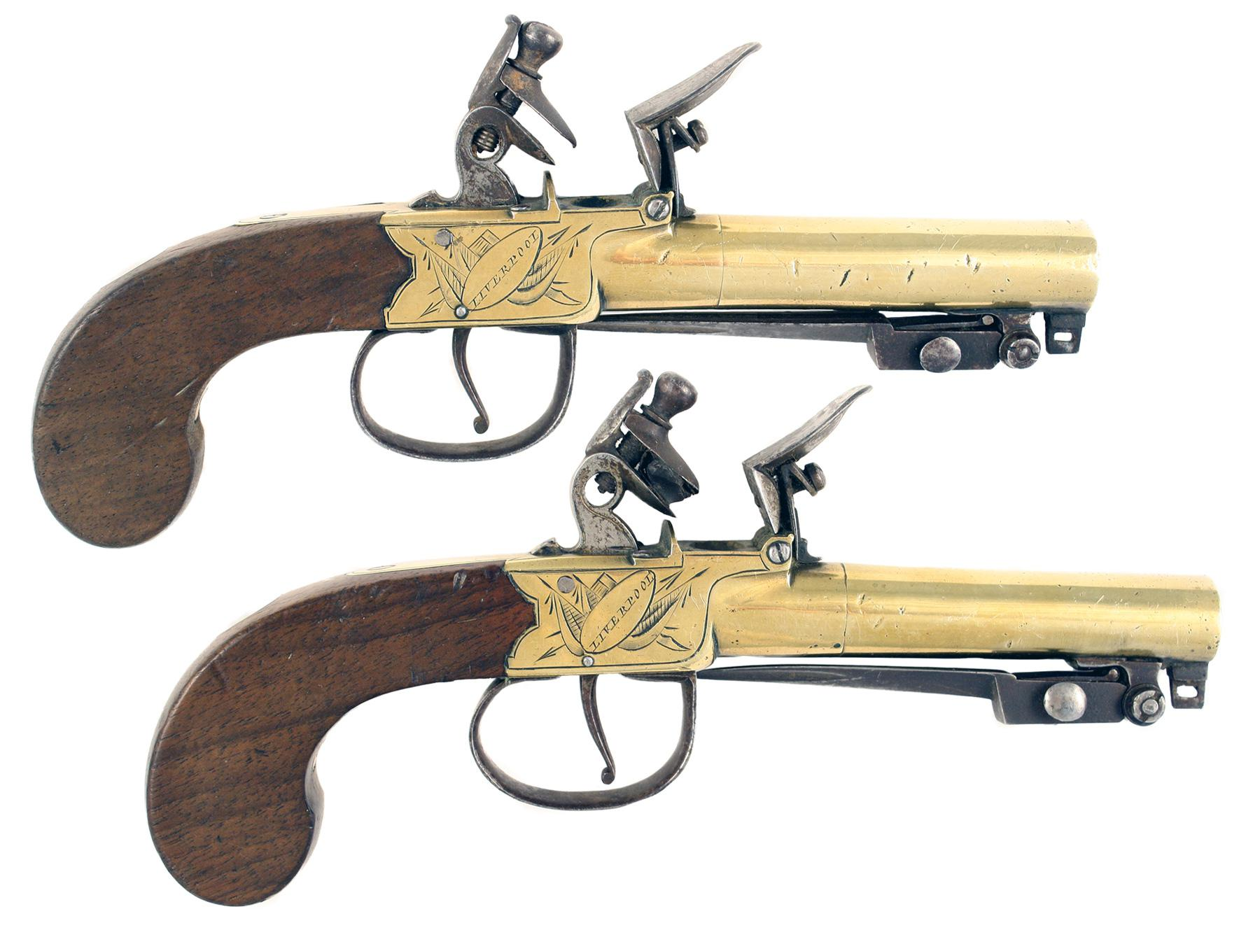 A Pair of Flintlock Bayonet Pistols