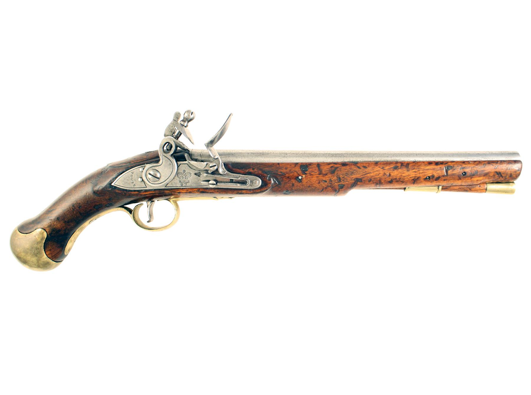 A Flintlock Long Sea Service Pistol
